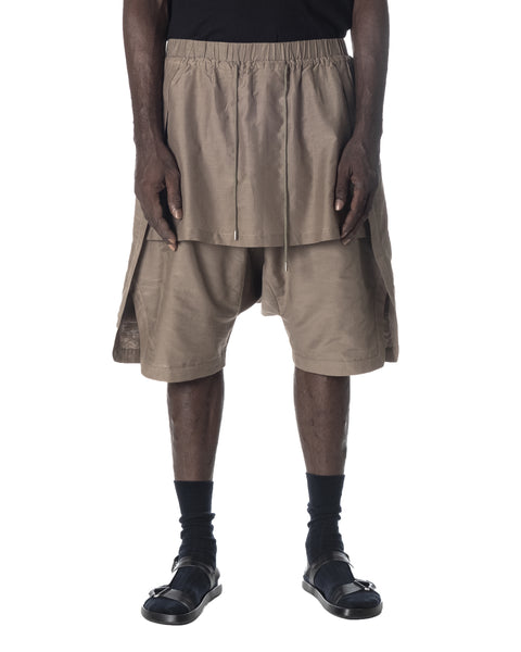 DRAWSTRING LAYERED SHORT PANT SAND