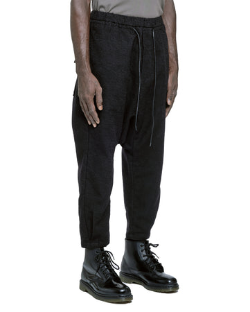 TEXTURED DROPPED CROTCH PANT