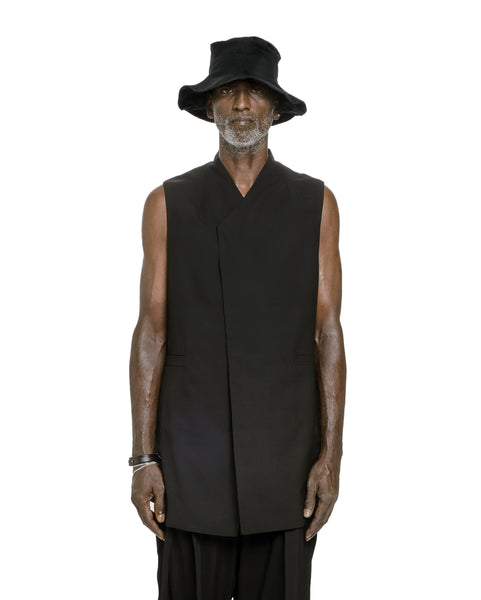OVERLAPPED VEST BLACK