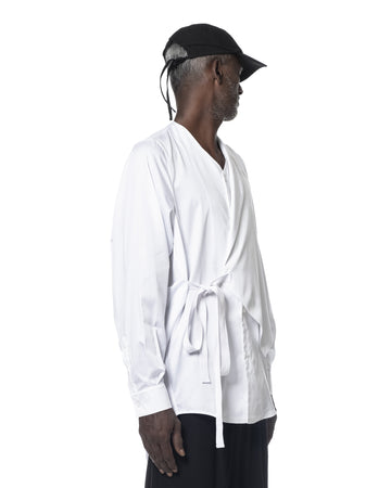 WRAPAROUND SHIRT OFF WHITE