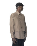 HUNCHED LAYERED SHIRT SAND