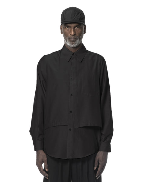 HUNCHED LAYERED SHIRT BLACK