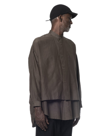 OVERSIZED LAYERED SHIRT BROWN