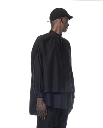 OVERSIZED LAYERED SHIRT BLACK