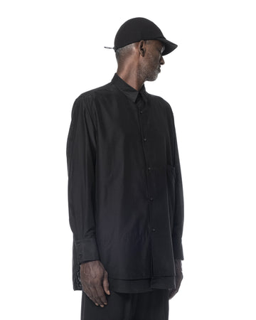 DOUBLE LAYERED SHIRT BLACK