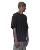 OVERLAPPED COLLAR T-SHIRT BLACK