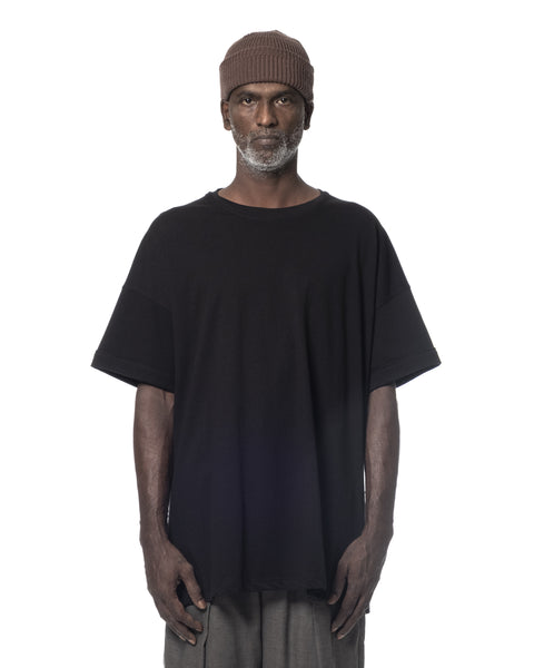 ROLL-UP SLEEVES T-SHIRT BLACK