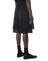 LAYERED SHORT PANTS BLACK