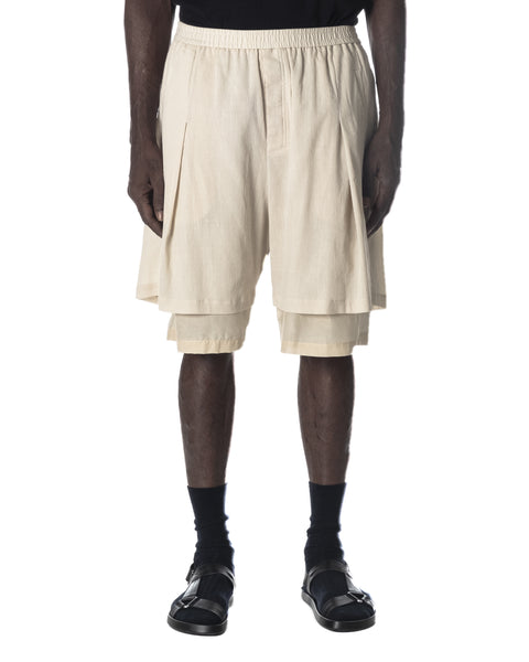 LAYERED SHORT PANTS LIGHT TAN