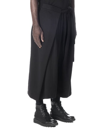 WRAPAROUND PANT BLACK