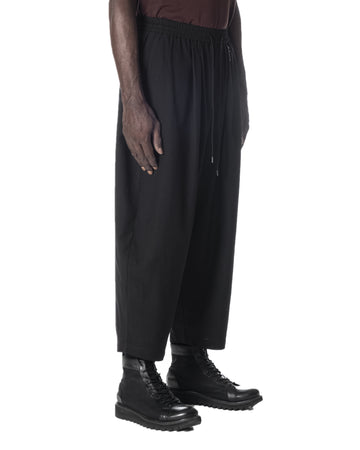 RELAXED BALLOON TROUSERS BLACK
