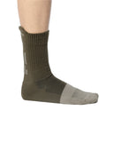 (2-Pairs) MISMATCHED CALF HIGH PREMIUM COTTON SOCKS NUTRIA+DUNE