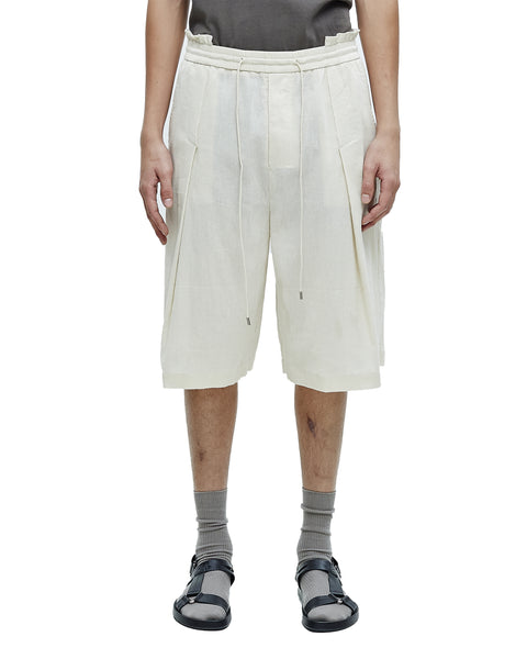 DUNE DECONSTRUCTED WAISTBAND SHORTS WITH REVEALED PLEATS