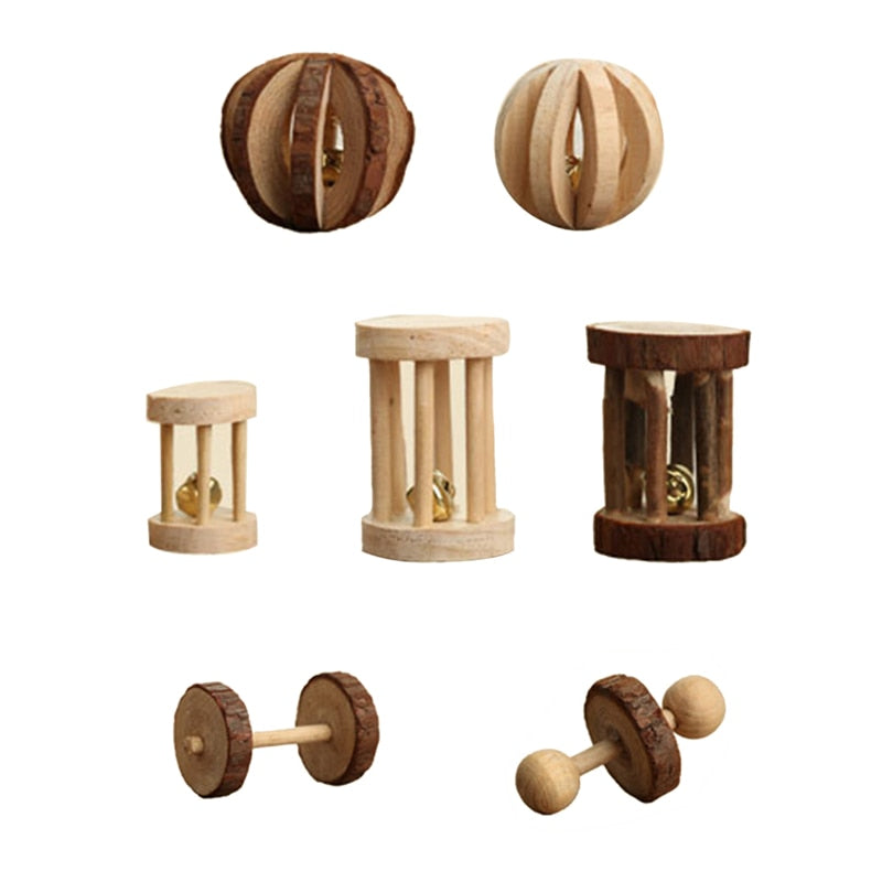 Natural Wood Pet Play Toy