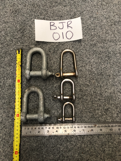 Shackles (Set of 5) Various Sizes (Used) #BJR-010
