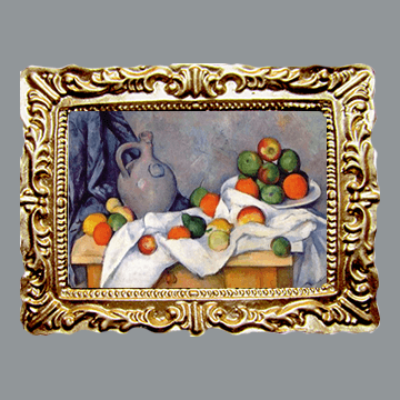 Cezanne - Curtain, Jug and Bowl of Fruit