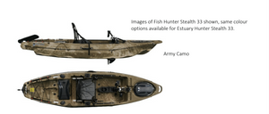 Fish Hunter Stealth 33 Pedal Powered And Electric Trolling Motor Plus Rocket Launcher/Motor Bracket