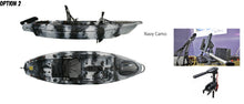 Load image into Gallery viewer, Fish Hunter Stealth 33 Pedal Powered And Electric Trolling Motor Plus Rocket Launcher/Motor Bracket