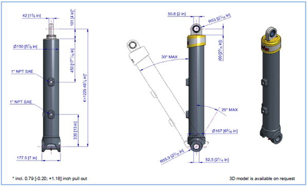 Telescopic Cylinder - 63101
