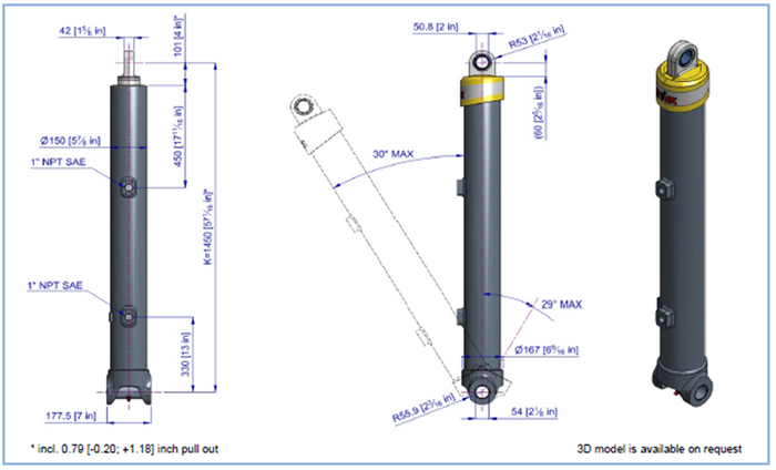 Telescopic Cylinder - 63124