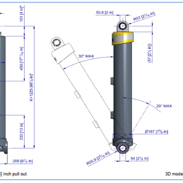 Telescopic Cylinder - 74135