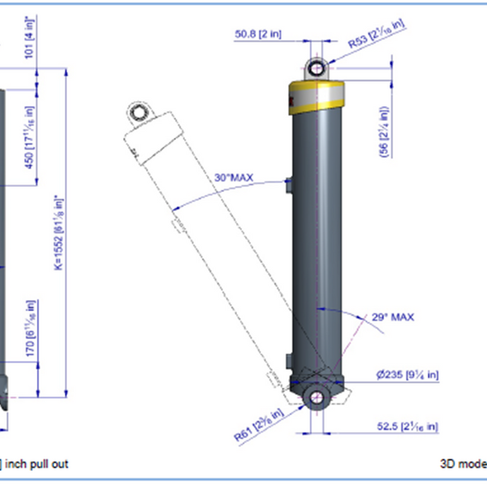 Telescopic Cylinder - 85190