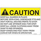 DECAL-CAUTION CHAIN GUARD
