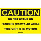 DECAL-DO NOT STAND ON FENDERS