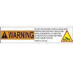 DECAL-BODY PROP WARNING