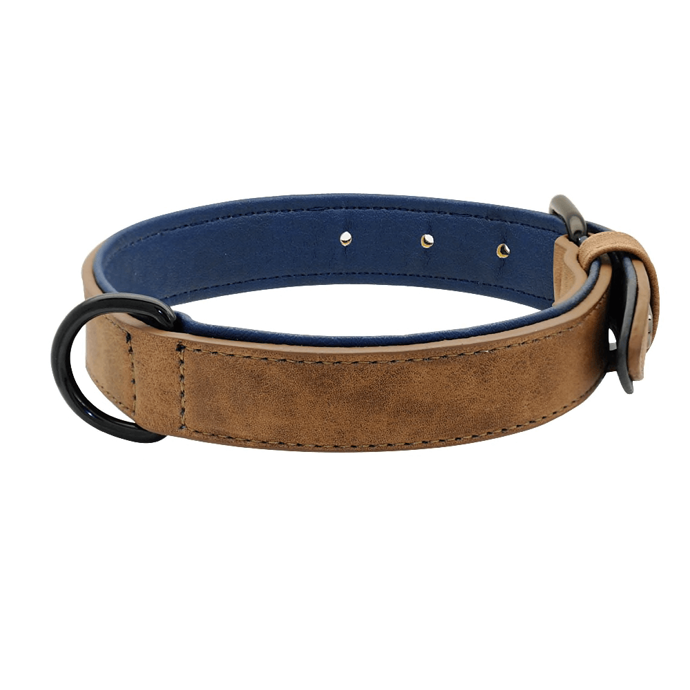 Pidog Coffee Leather Dog Kcollar