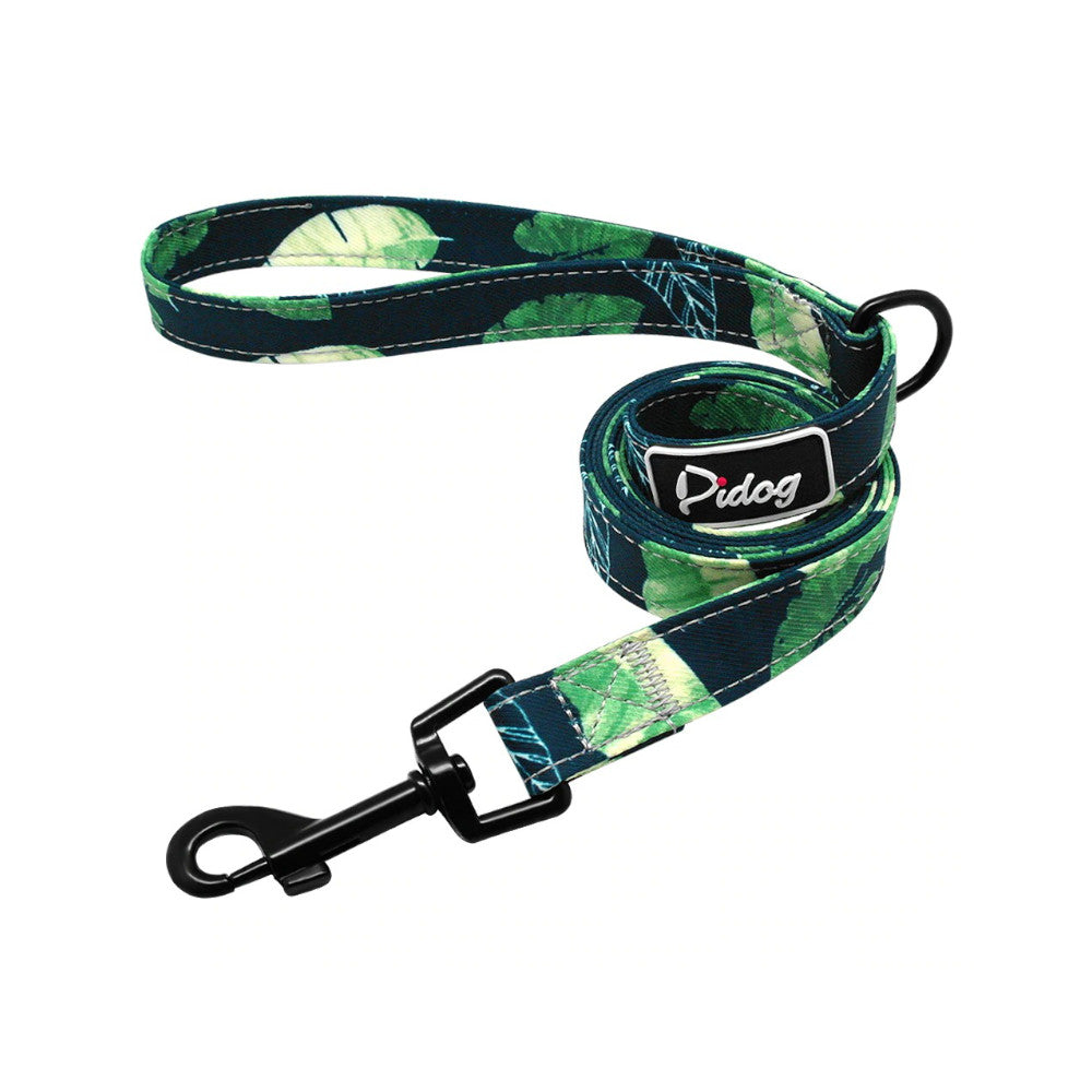 Pidog Just Be-Leaf Nylon Dog Leash