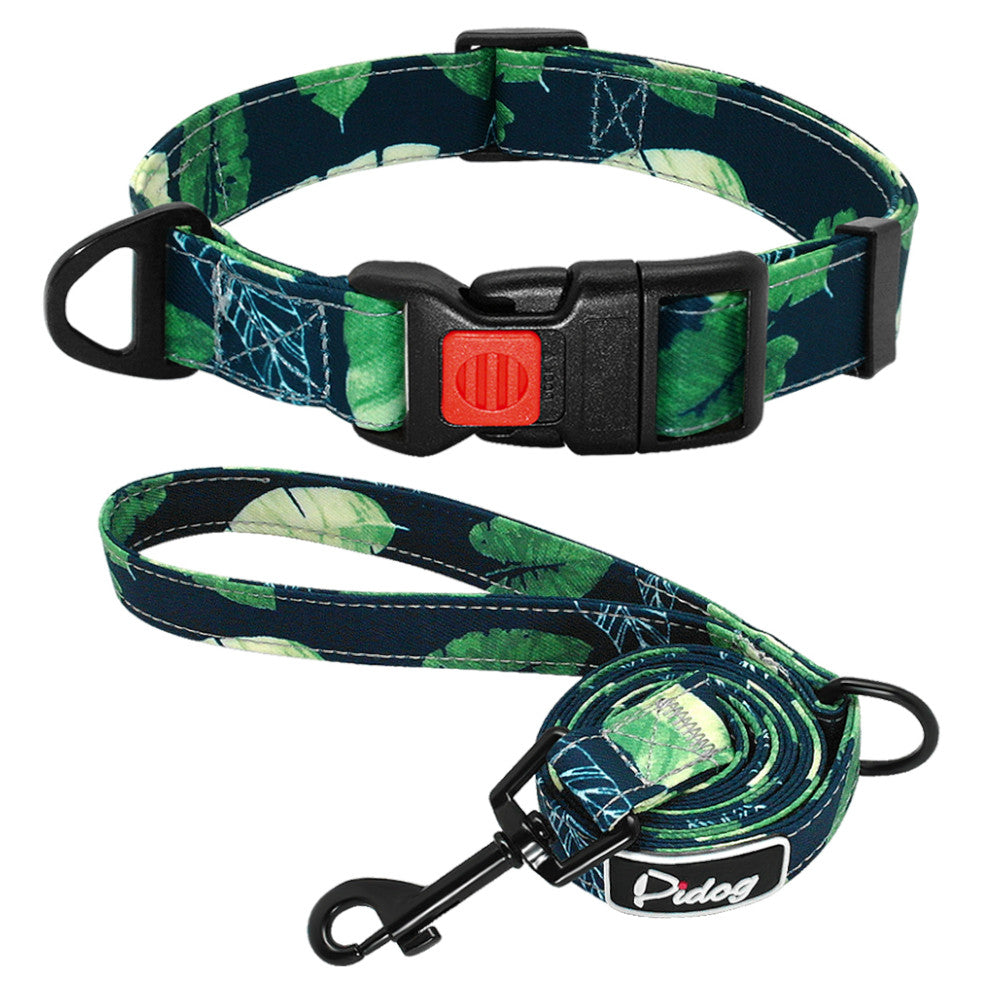 Pidog Just Be-Leaf Nylon Dog Kcollar Set