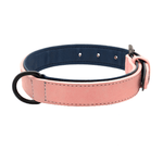 Pidog Pink Leather Dog Kcollar
