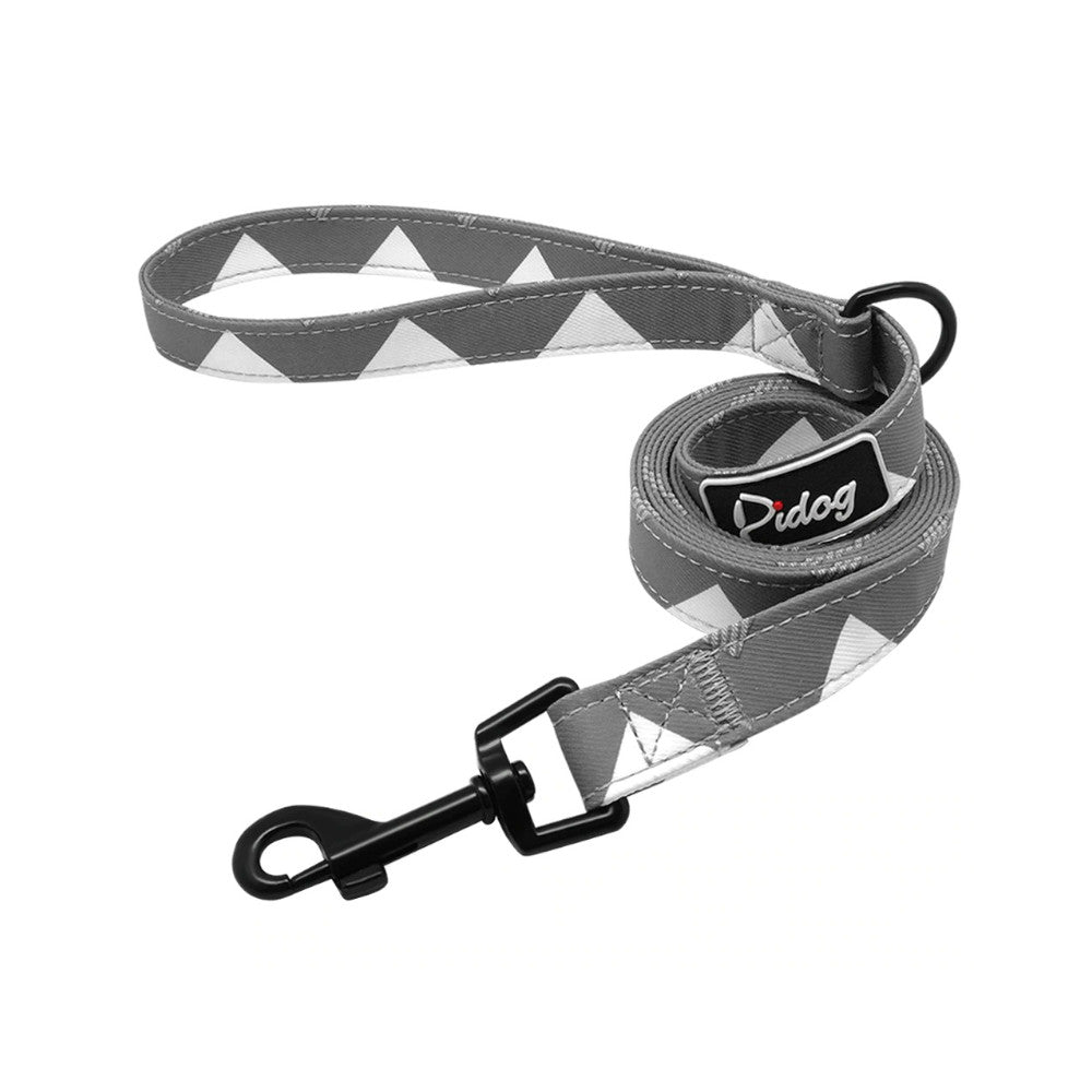 Pidog Pointed Grey Nylon Dog Leash