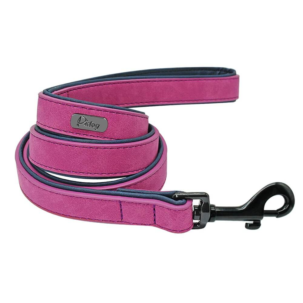 Pidog Purple Leather Dog Leash