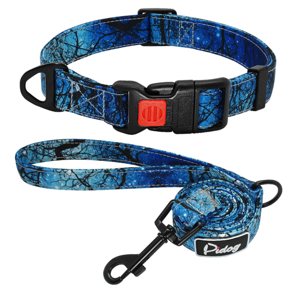 Pidog Starlight Forest Nylon Dog Kcollar Set