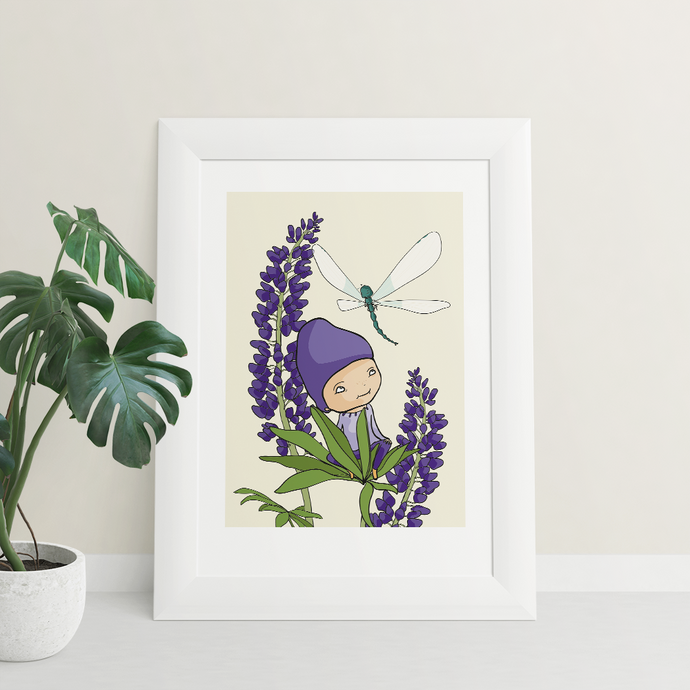 Lilac Lilly print
