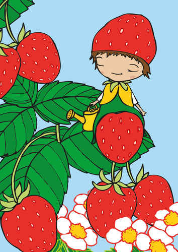 Strawberry postcard