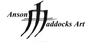 Anson Maddocks Art black and white business logo