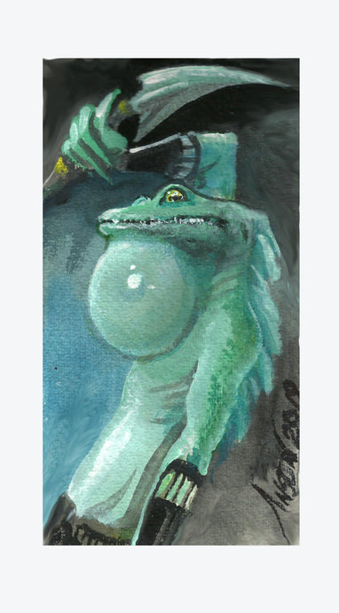 Frog Lizard Token Original Artwork