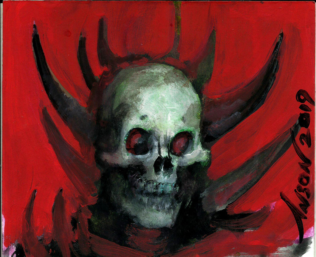 Thrull Skull Painting