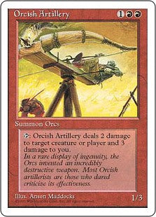 Orcish Artillery 4th Edition AP