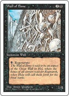 Wall of Bone 4th Edition AP