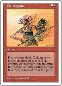 Disintegrate (5th Edition) Artist Proof