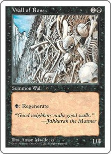 Wall of Bone (5th Edition) Artist Proof