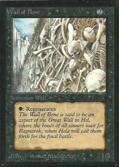 Wall of Bone 1st Edition Artist Proof