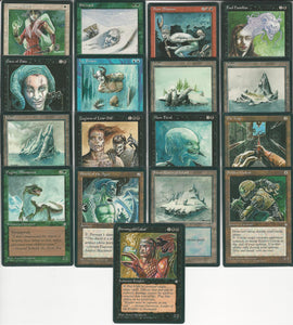 **Full Set of Ice Age (English) Artist Proofs