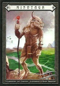 2/3 Minotaur Token with Staff