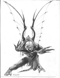 "Talislanta ""Void Demon"" Original Illustration, by Anson Maddocks"