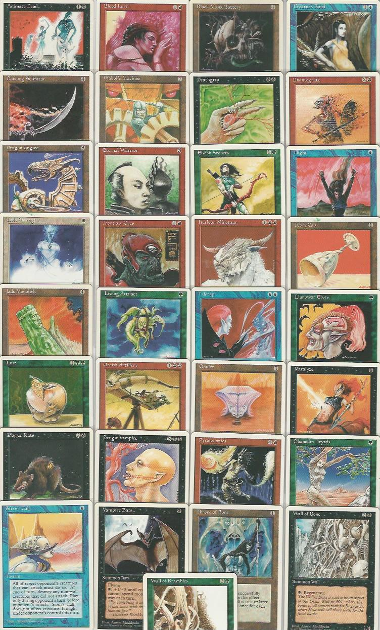 **Full Set of 4th Edition English Artist Proofs